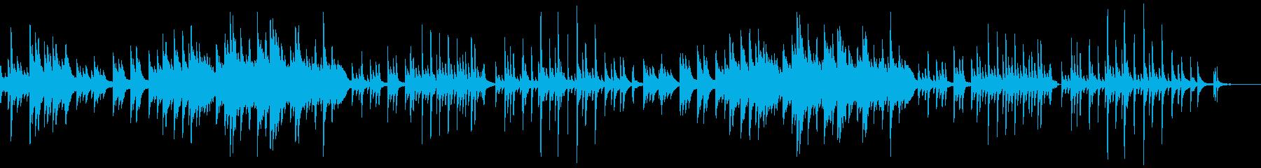 童謡「むすんでひらいて」エモいチルピアノの再生済みの波形