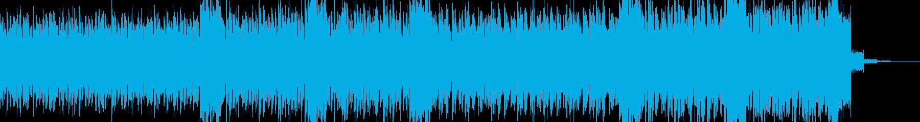 過激な音色構成のテクノ+トランス LAの再生済みの波形