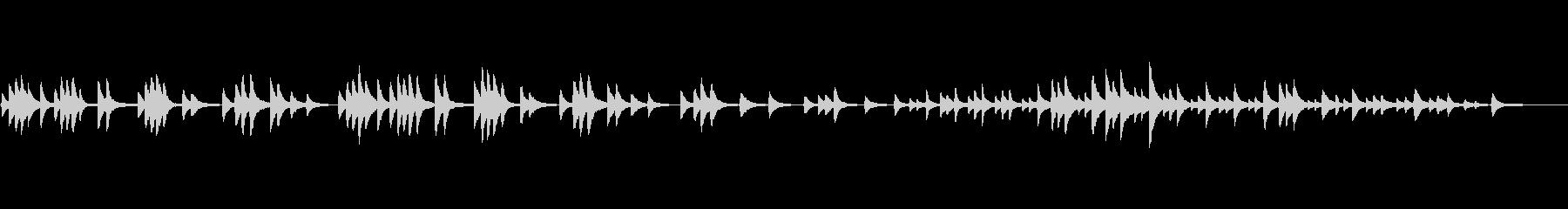 チャイコフスキーのピアノソロ「教会」の未再生の波形
