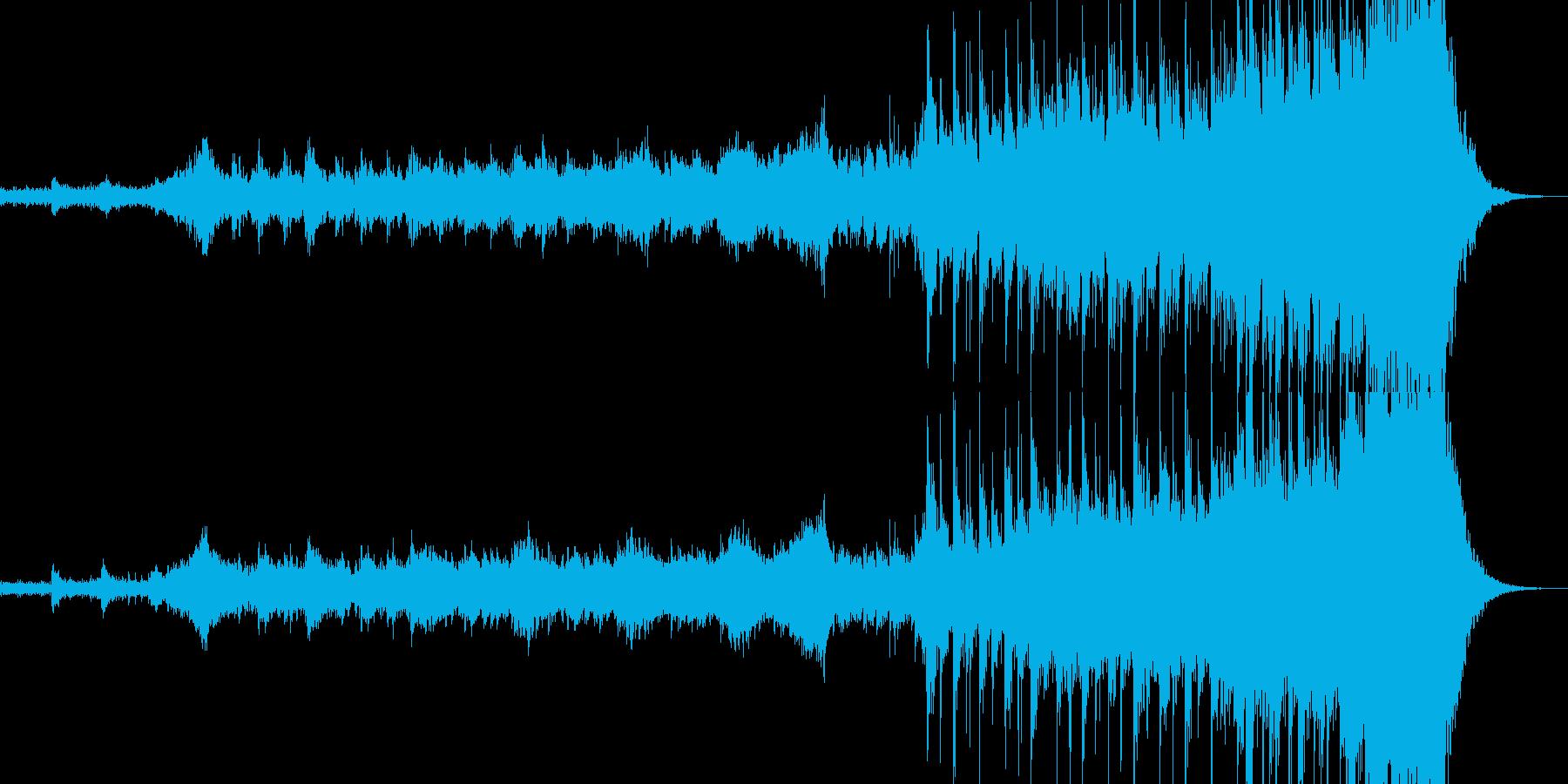 シリアス重厚で迫力ある曲・トレーラーの再生済みの波形