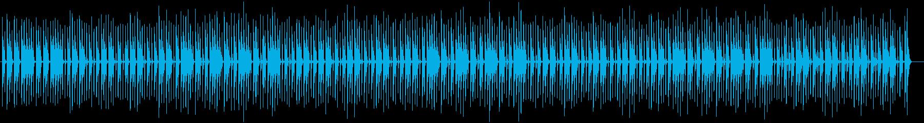 可愛く弾けるような木琴などのサウンドの再生済みの波形
