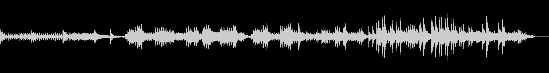 懐かしさを感じるピアノ_映像用の未再生の波形