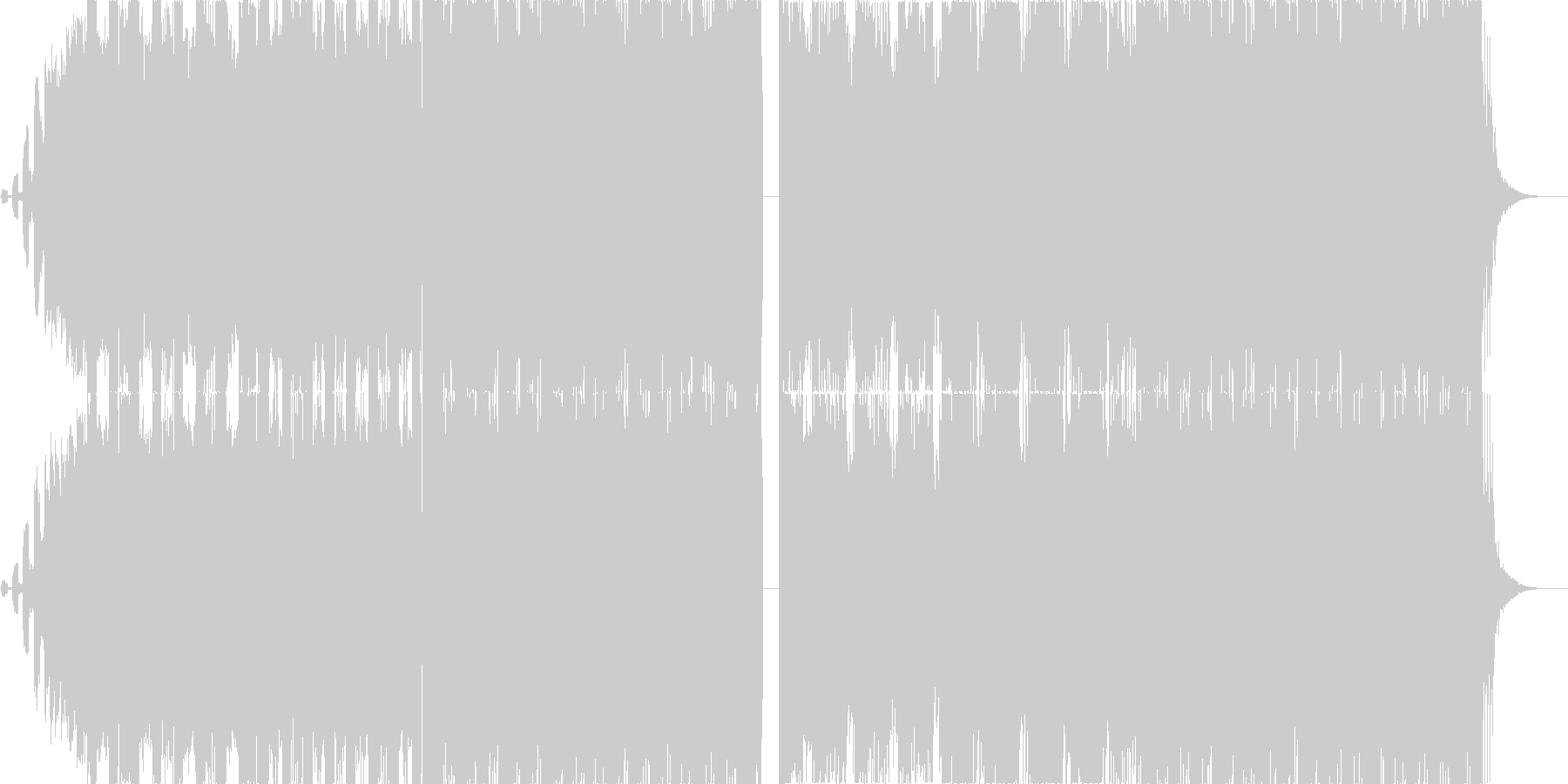 カッコ可愛いFutue Bass EDMの未再生の波形