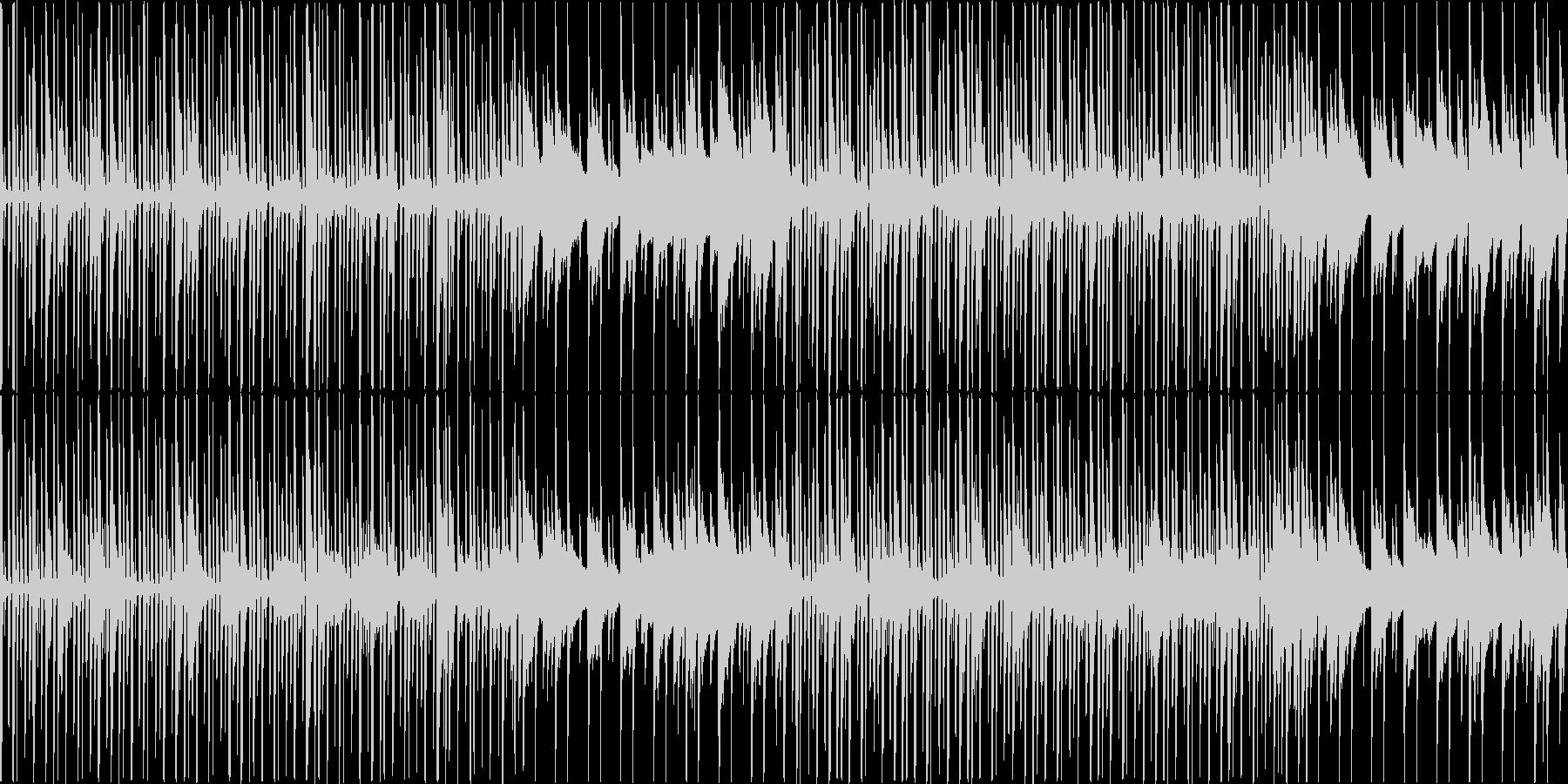 ほのぼの明るい素朴なBGMの未再生の波形