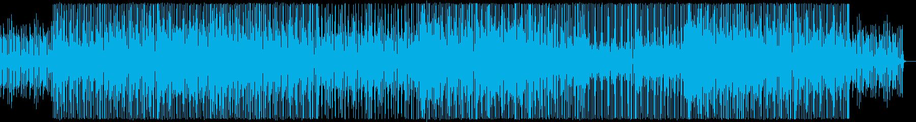 小気味良いリズムの軽快なブレイクビーツの再生済みの波形