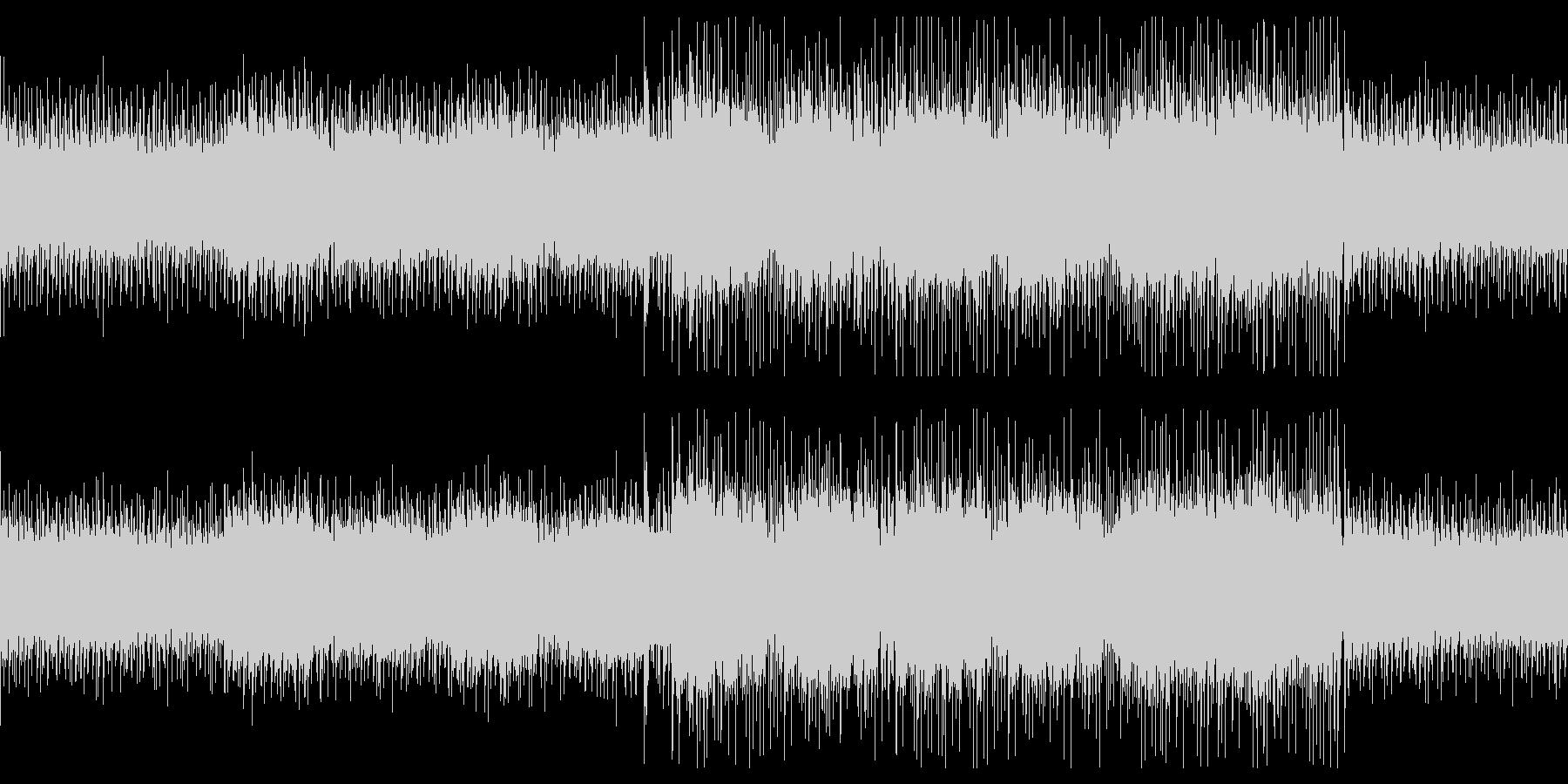 無機質・人工的・電脳的なエレクトロBGMの未再生の波形