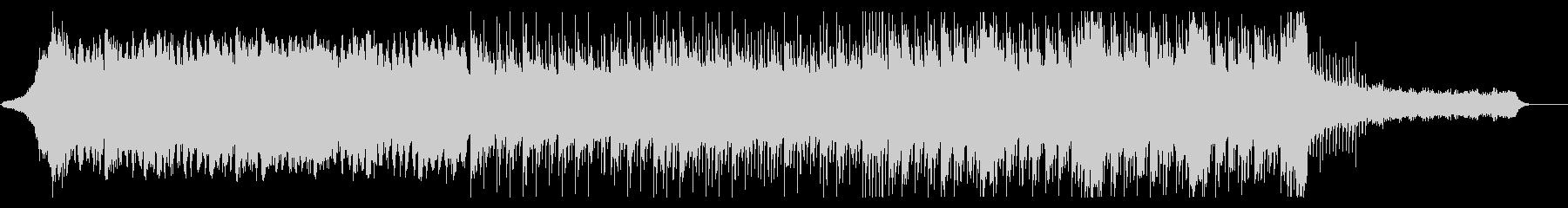 ビート感のあるシリアスなBGMの未再生の波形
