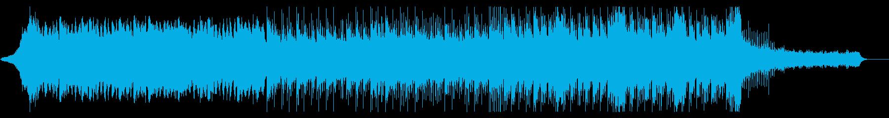 ビート感のあるシリアスなBGMの再生済みの波形