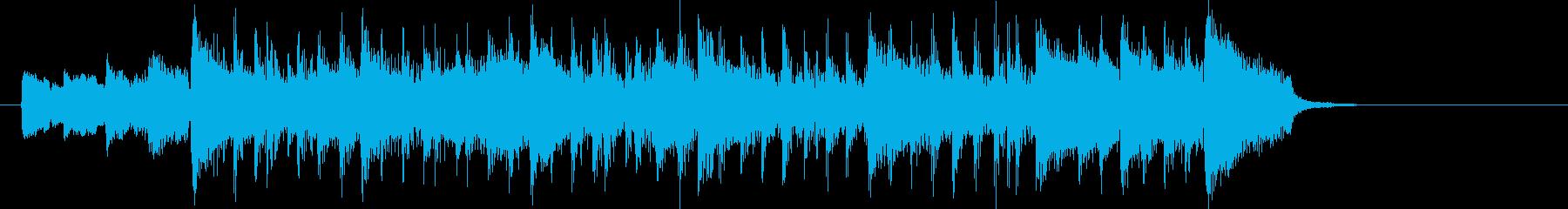 緩やかで可憐なシンセポップジングルの再生済みの波形