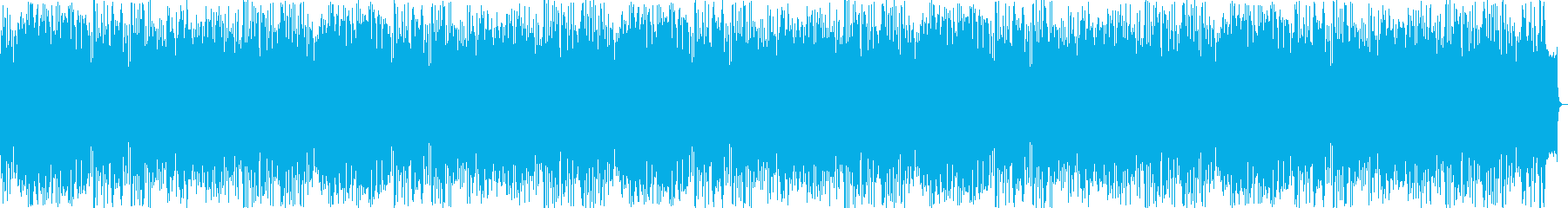 Bright and refreshing rhythmic music's reproduced waveform
