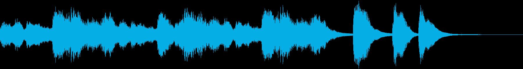 ハープのほのぼのとしてかわいいジングルの再生済みの波形