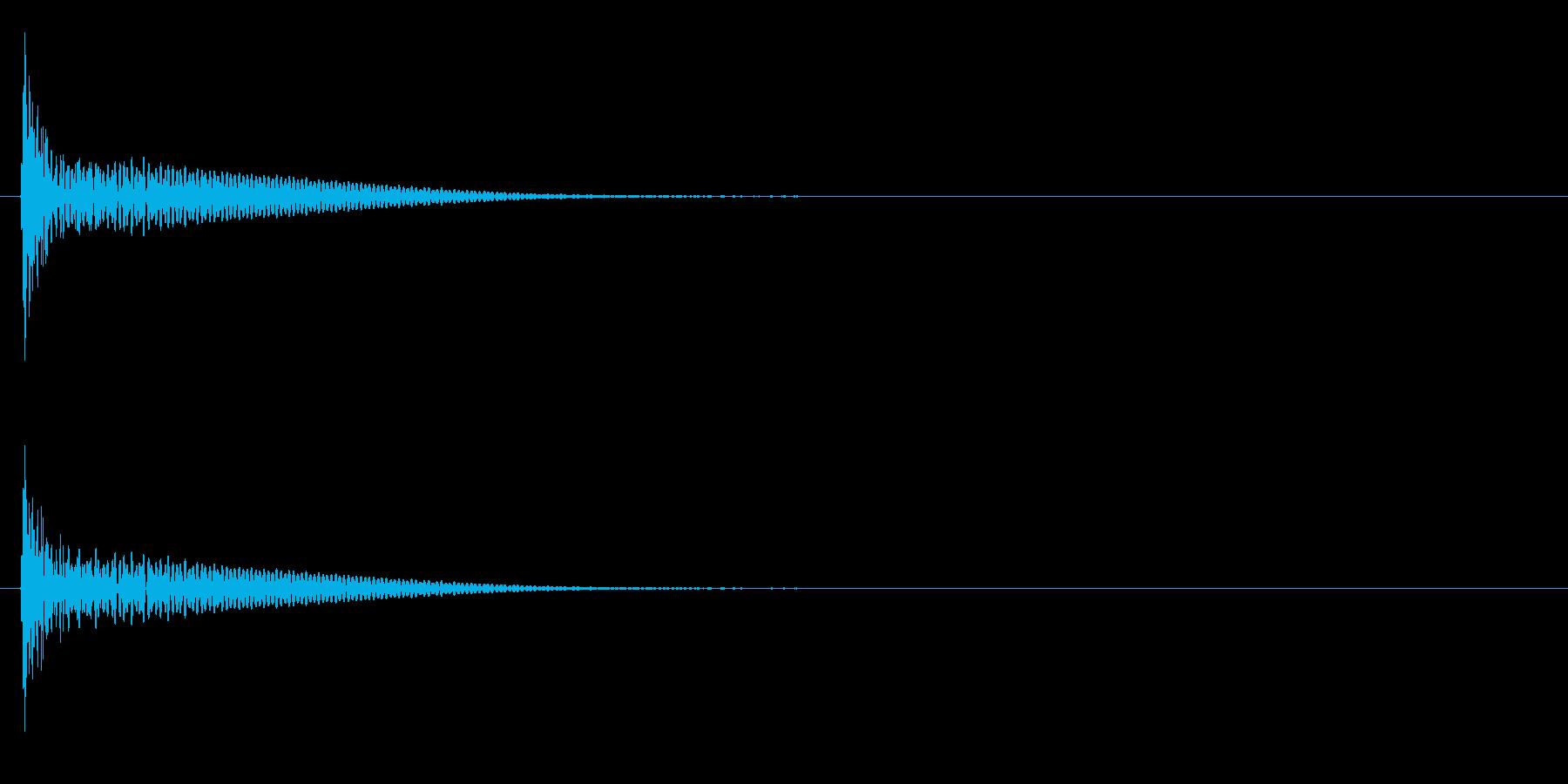 「ドン」和太鼓の大太鼓の単発音の再生済みの波形