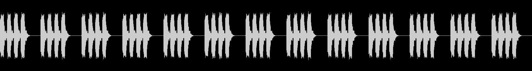 電子警告ビープ:一定の短いバースト...の未再生の波形