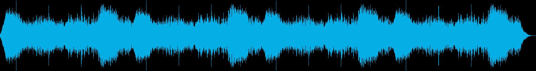 偏頭痛を和らげてくれるヒーリング音楽の再生済みの波形