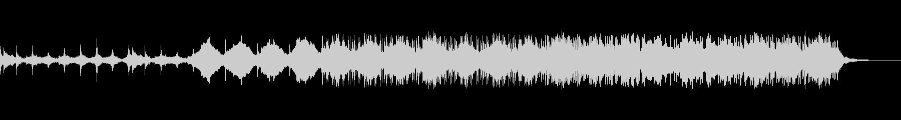 幻想的でノスタルジックなピアノの未再生の波形