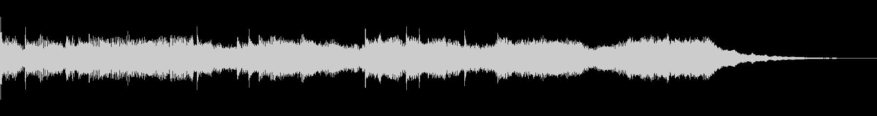 エレクトリックなクリア音の未再生の波形