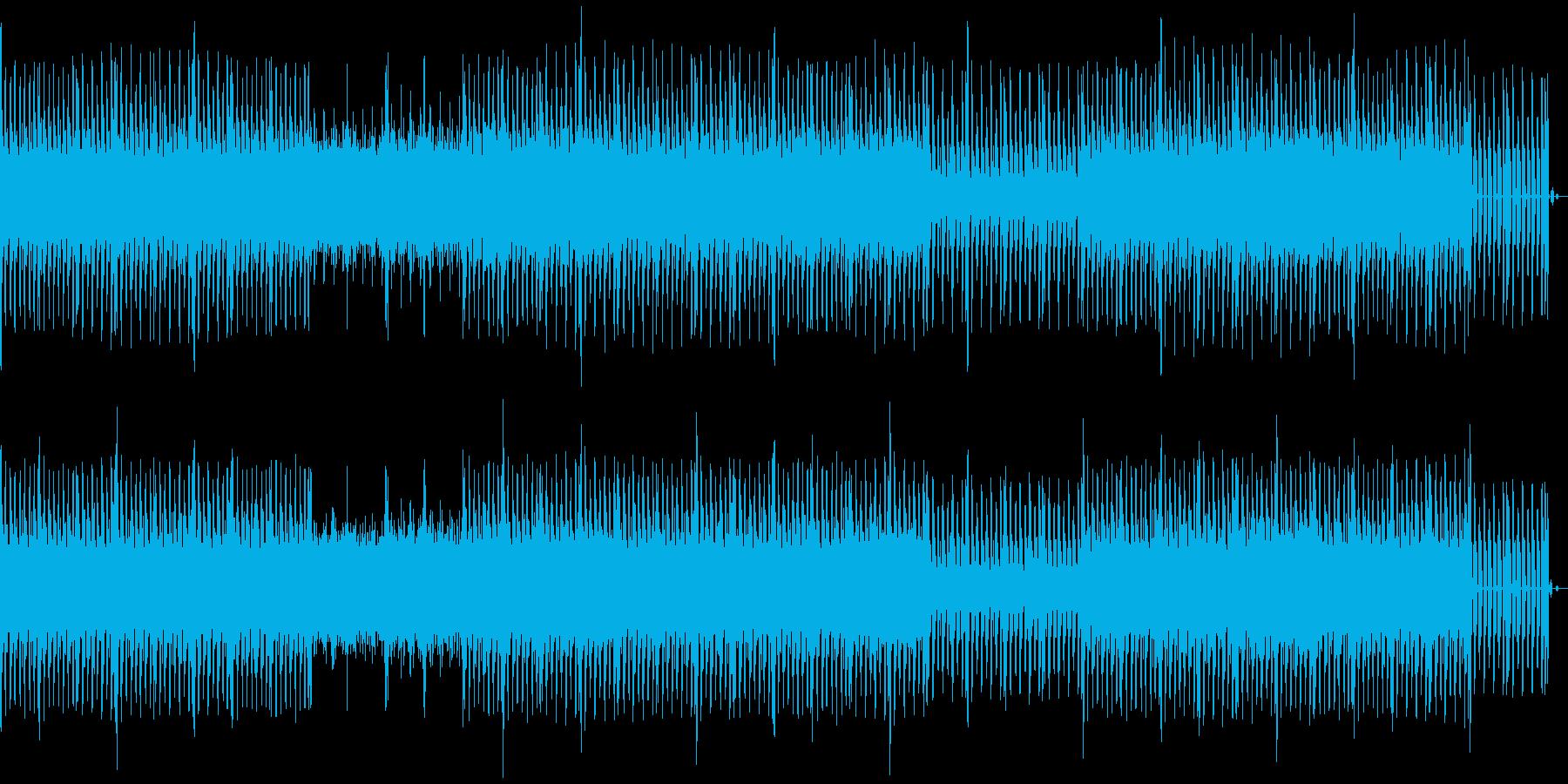 クールな印象のミニマルテクノの再生済みの波形