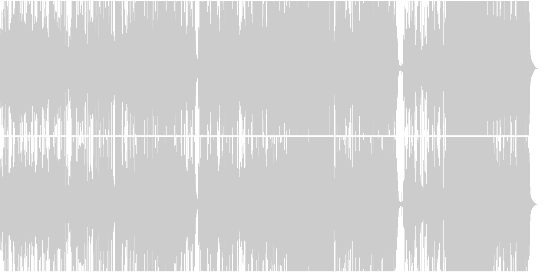 イギリスミュージカルシンガー王道ポップの未再生の波形