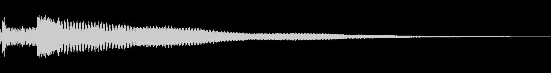 瞑想・幻想的 スティールタングドラムの未再生の波形
