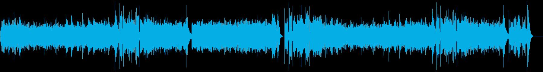 フラメンコ風のインストの再生済みの波形