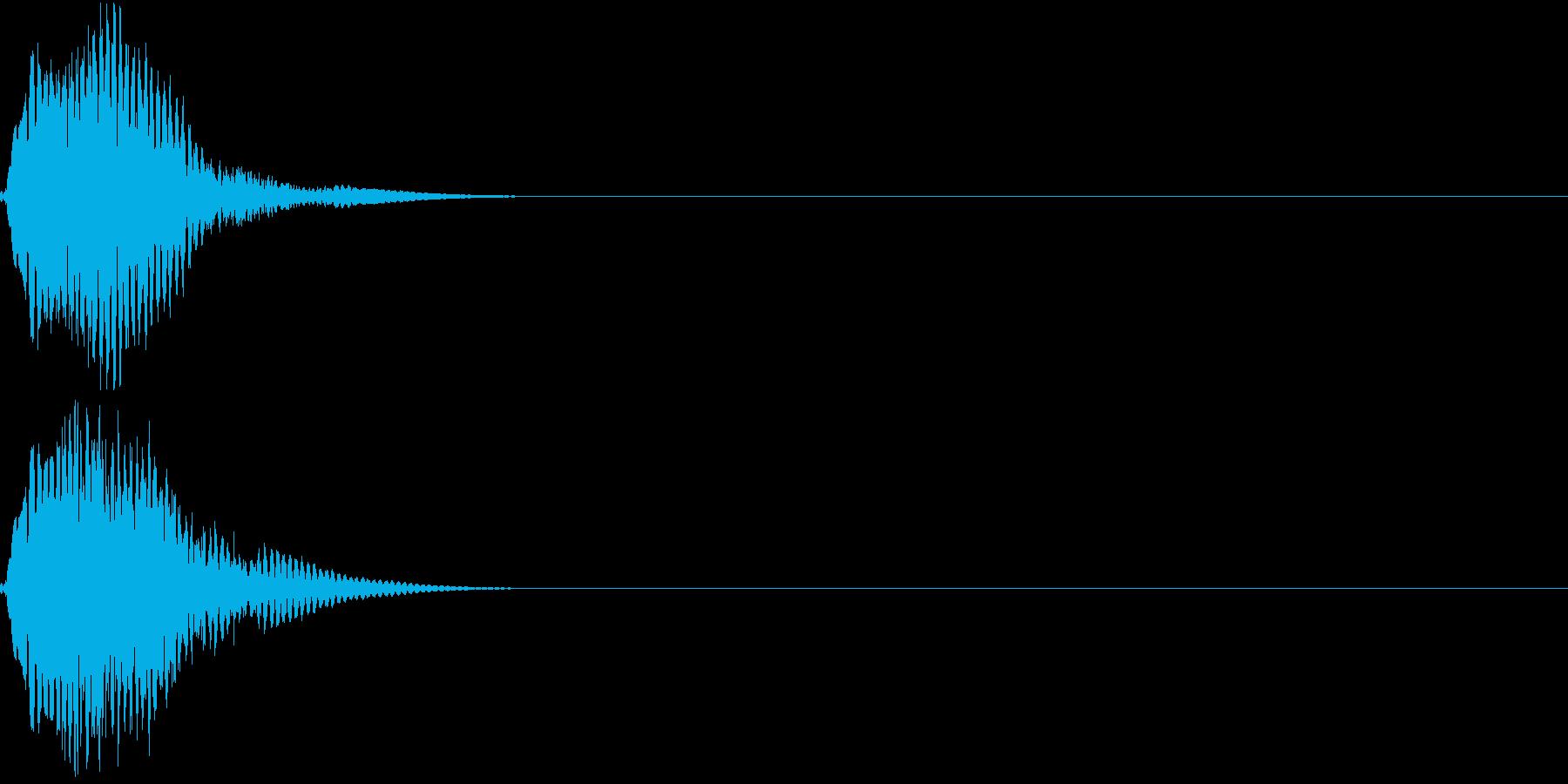 キュイン キーン シャキーン 光る 10の再生済みの波形