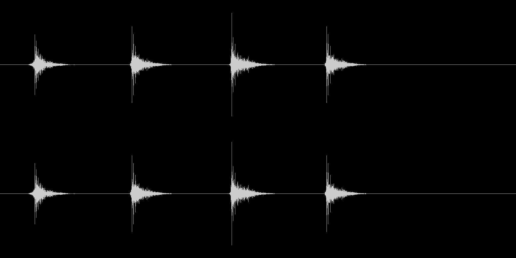 マッサージ_パンパンパンの未再生の波形