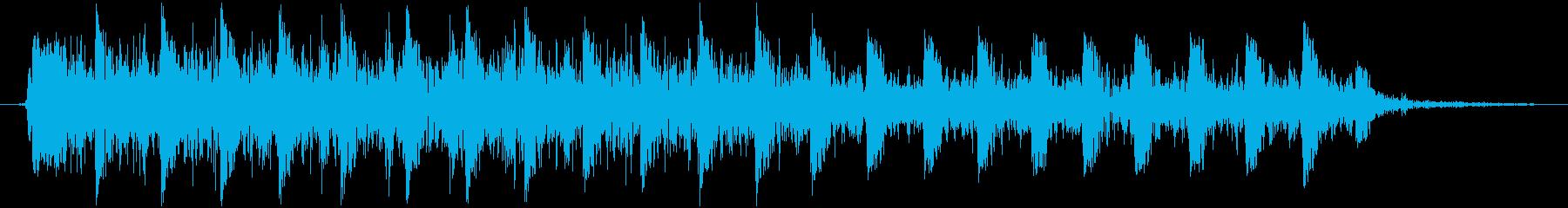 【銃声音014】マシンガンの音の再生済みの波形