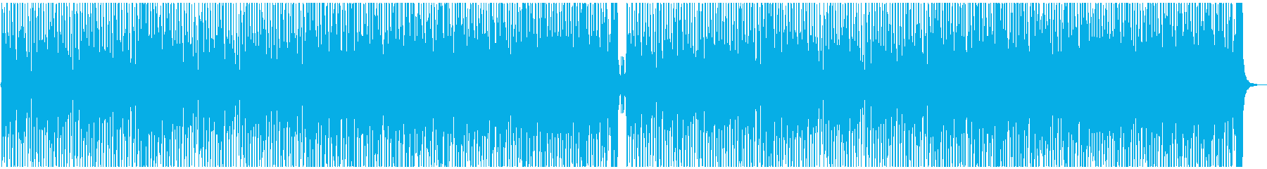 ハッピー&ポップな曲の再生済みの波形
