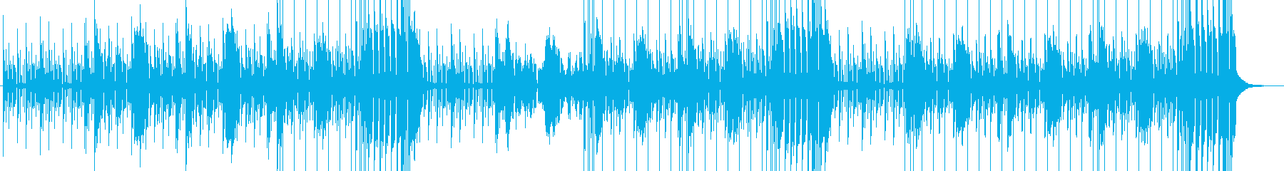 クールな製品紹介に、ヒップホップ風BGMの再生済みの波形