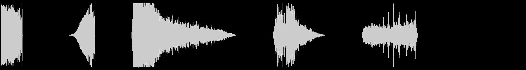 パワーフィズルX5の未再生の波形