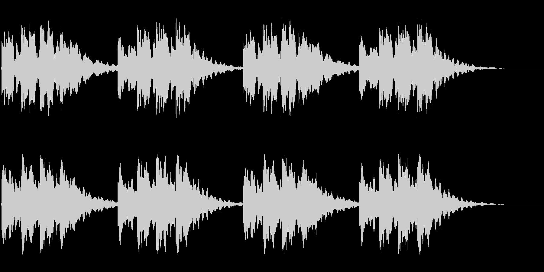 キーンコーンカーンコーン02(遅め2回)の未再生の波形