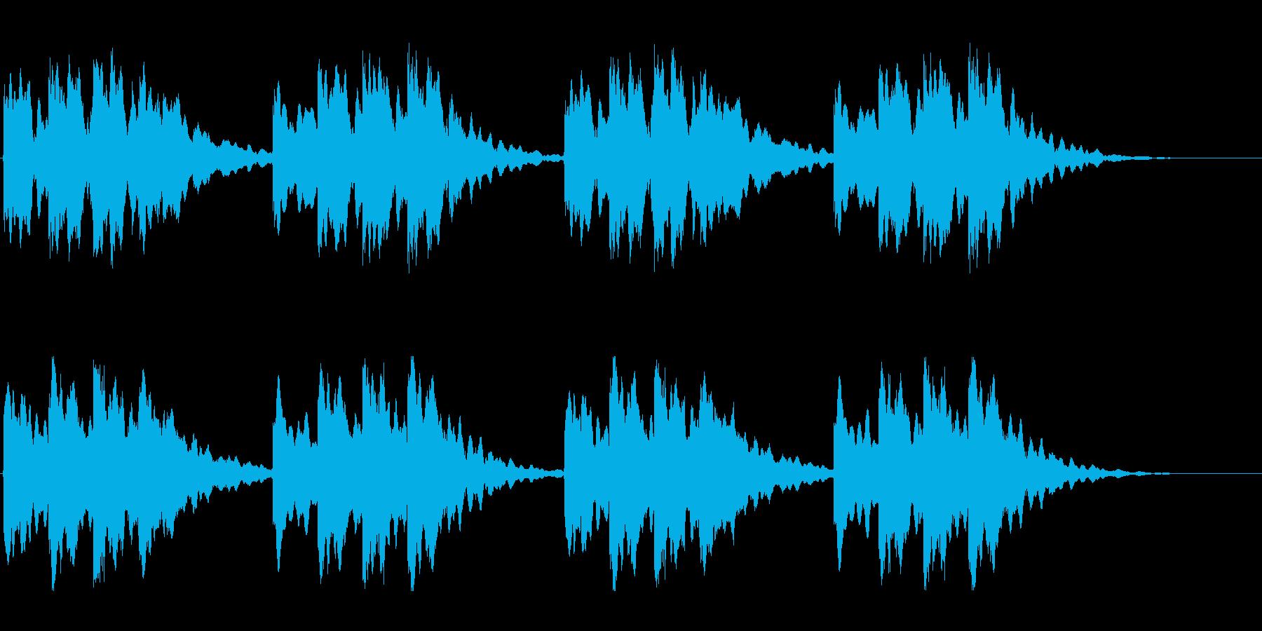キーンコーンカーンコーン02(遅め2回)の再生済みの波形