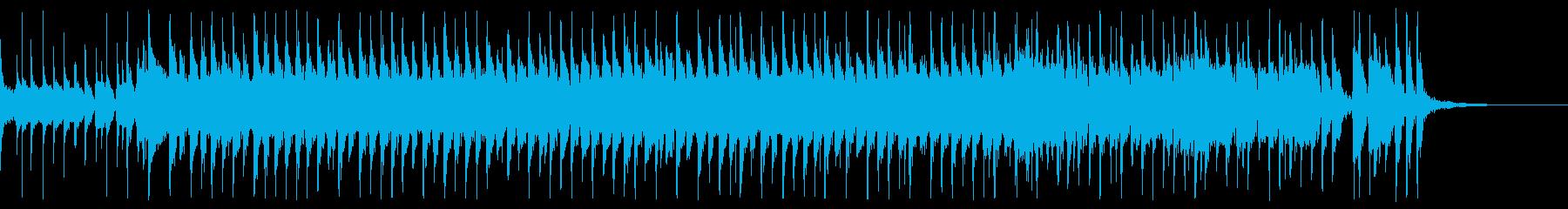 可愛い和風ポップロックの再生済みの波形