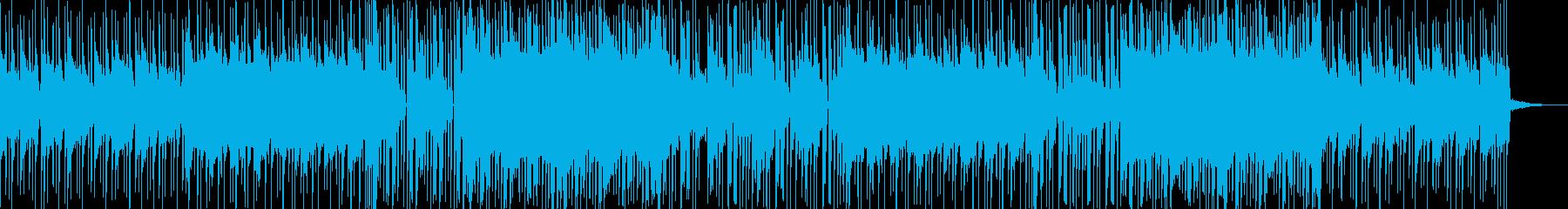 優しいメロディが一転して激しく変化する曲の再生済みの波形
