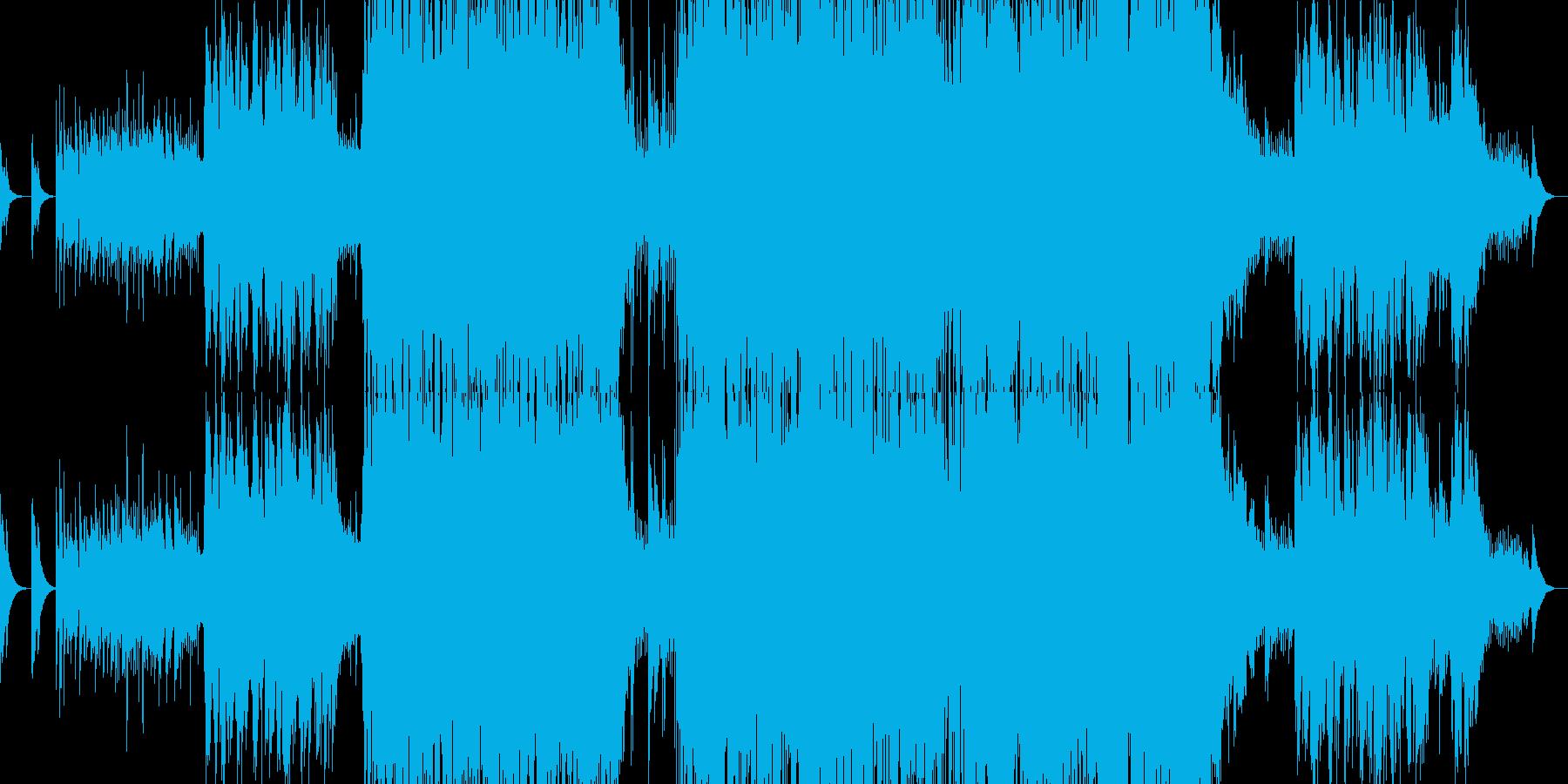 男性ボーカルによる感動的バラードの再生済みの波形