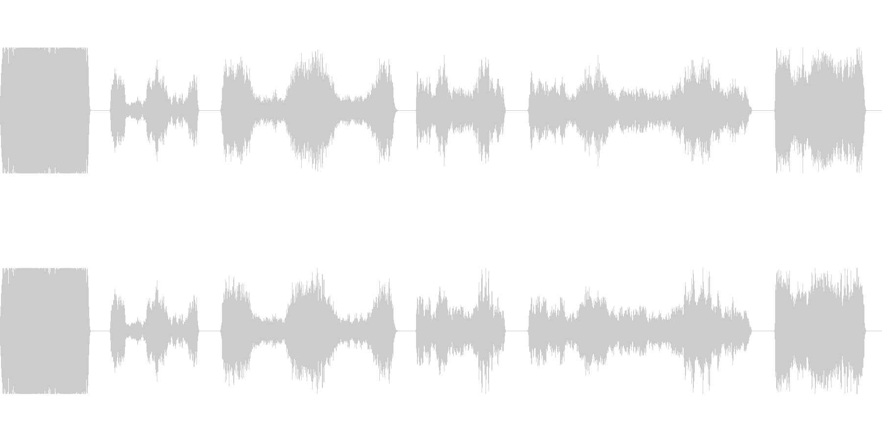 トーンシンセマシンダウンWAVの未再生の波形