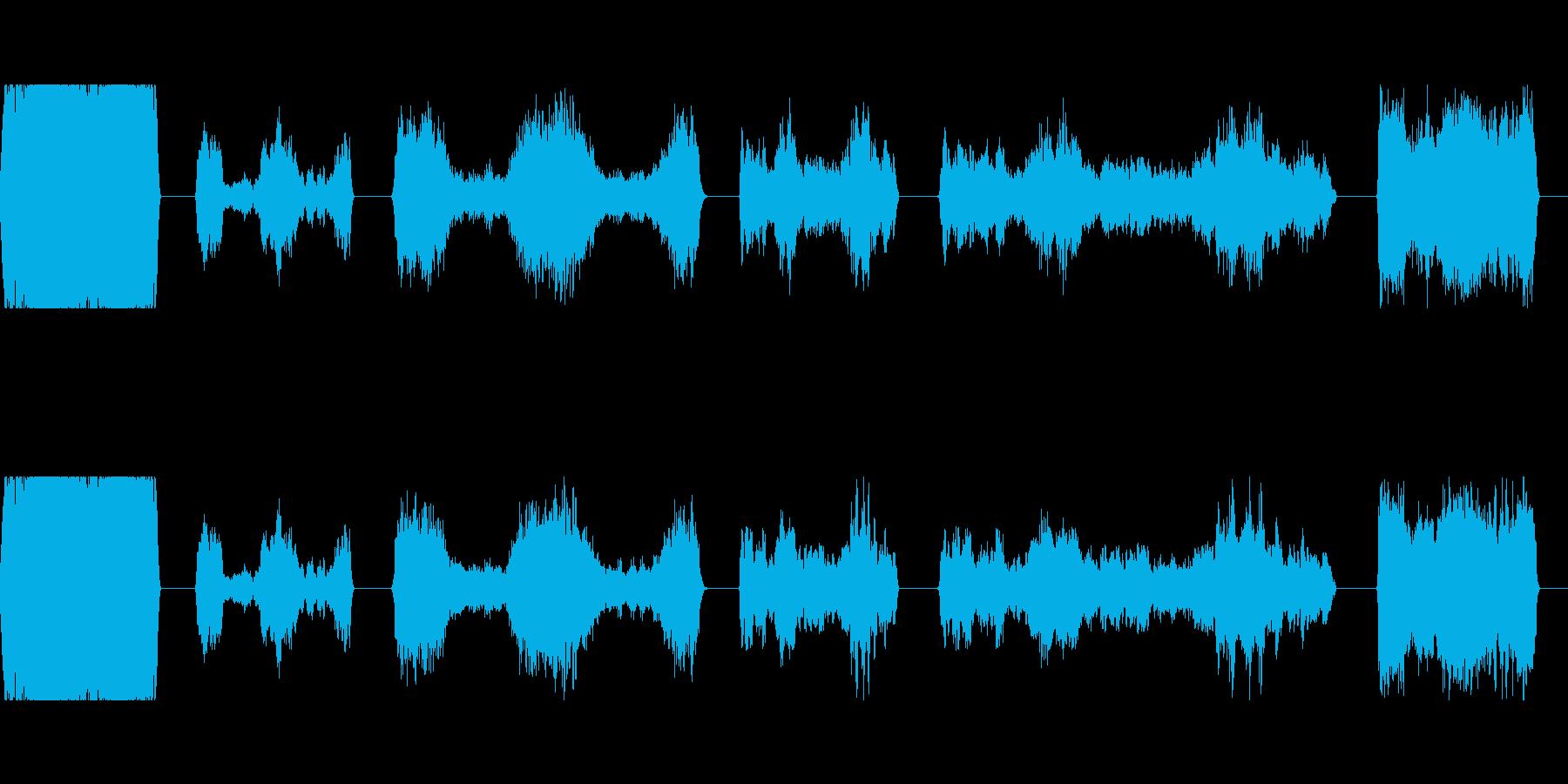 トーンシンセマシンダウンWAVの再生済みの波形