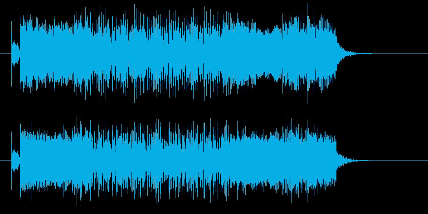 疾走感と激しいドラムギターサウンド短めの再生済みの波形