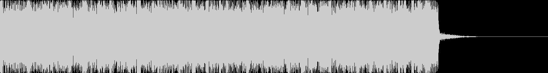 燃えたぎるハードロックメタルのジングルdの未再生の波形