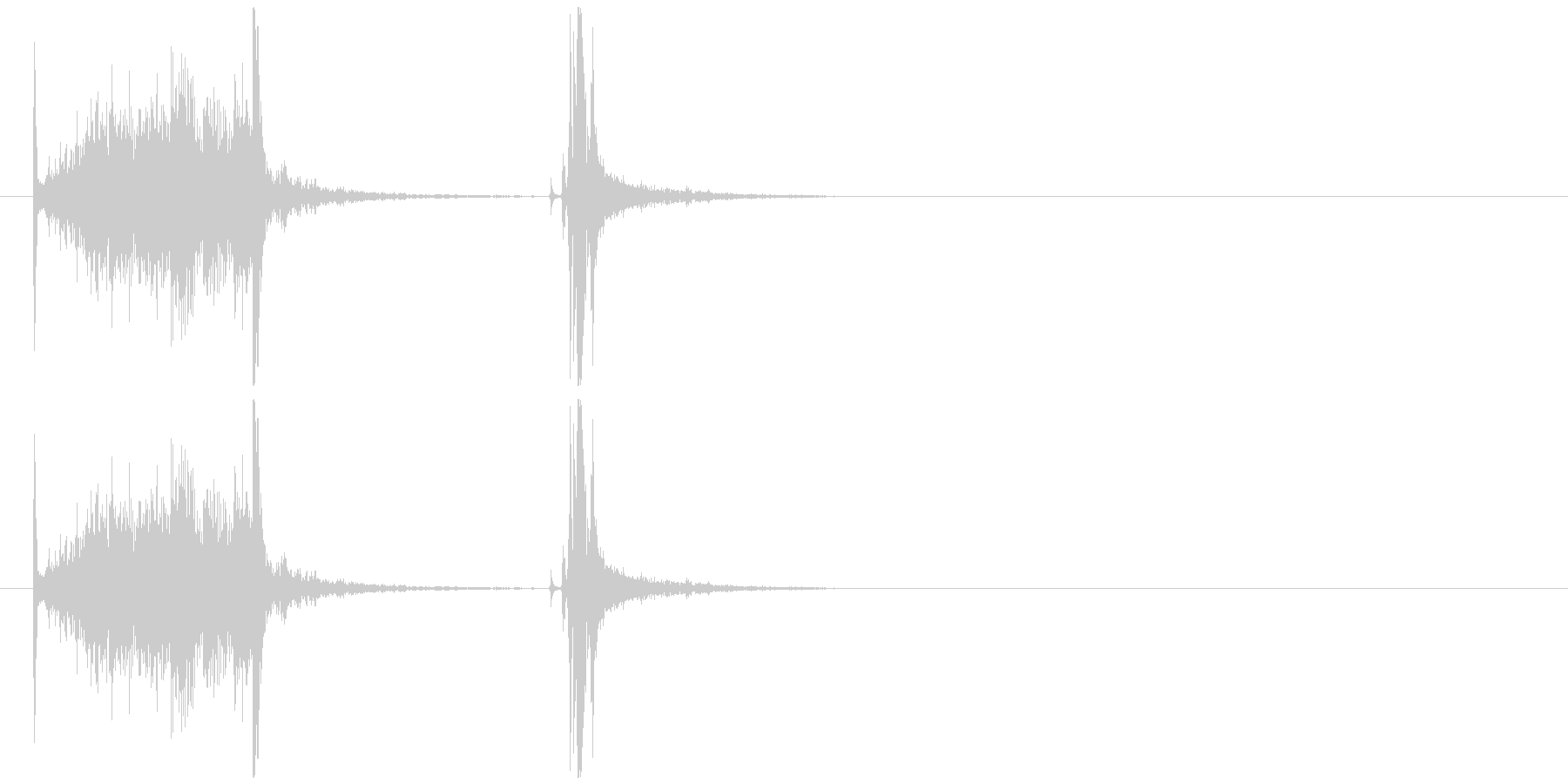 缶ジュースを開ける音(プルタブ)の未再生の波形