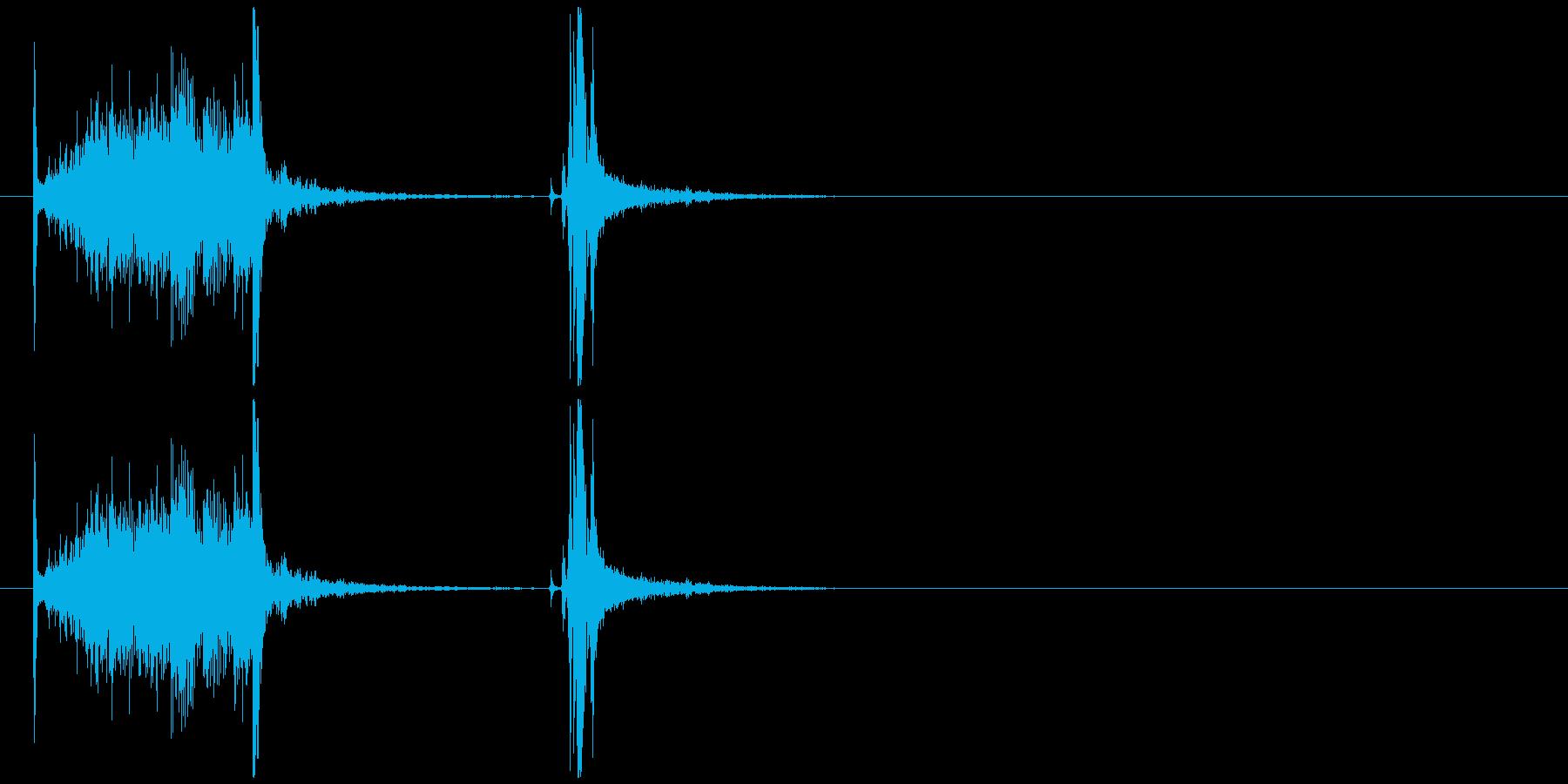 缶ジュースを開ける音(プルタブ)の再生済みの波形