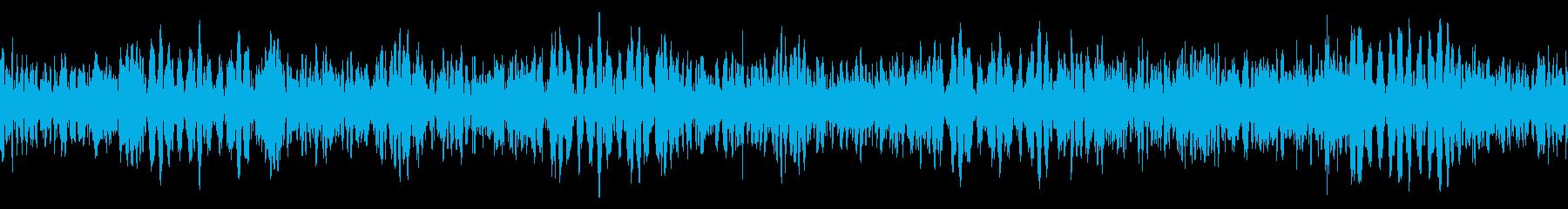 恐怖を引き立てるダークサウンドの再生済みの波形