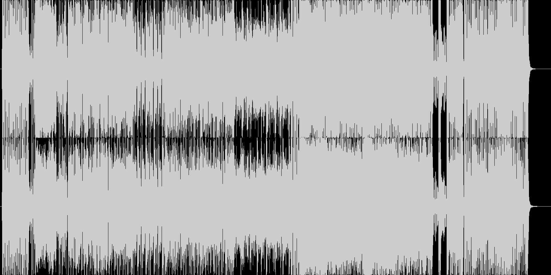 ブラスメインのおしゃれで疾走感のある曲の未再生の波形
