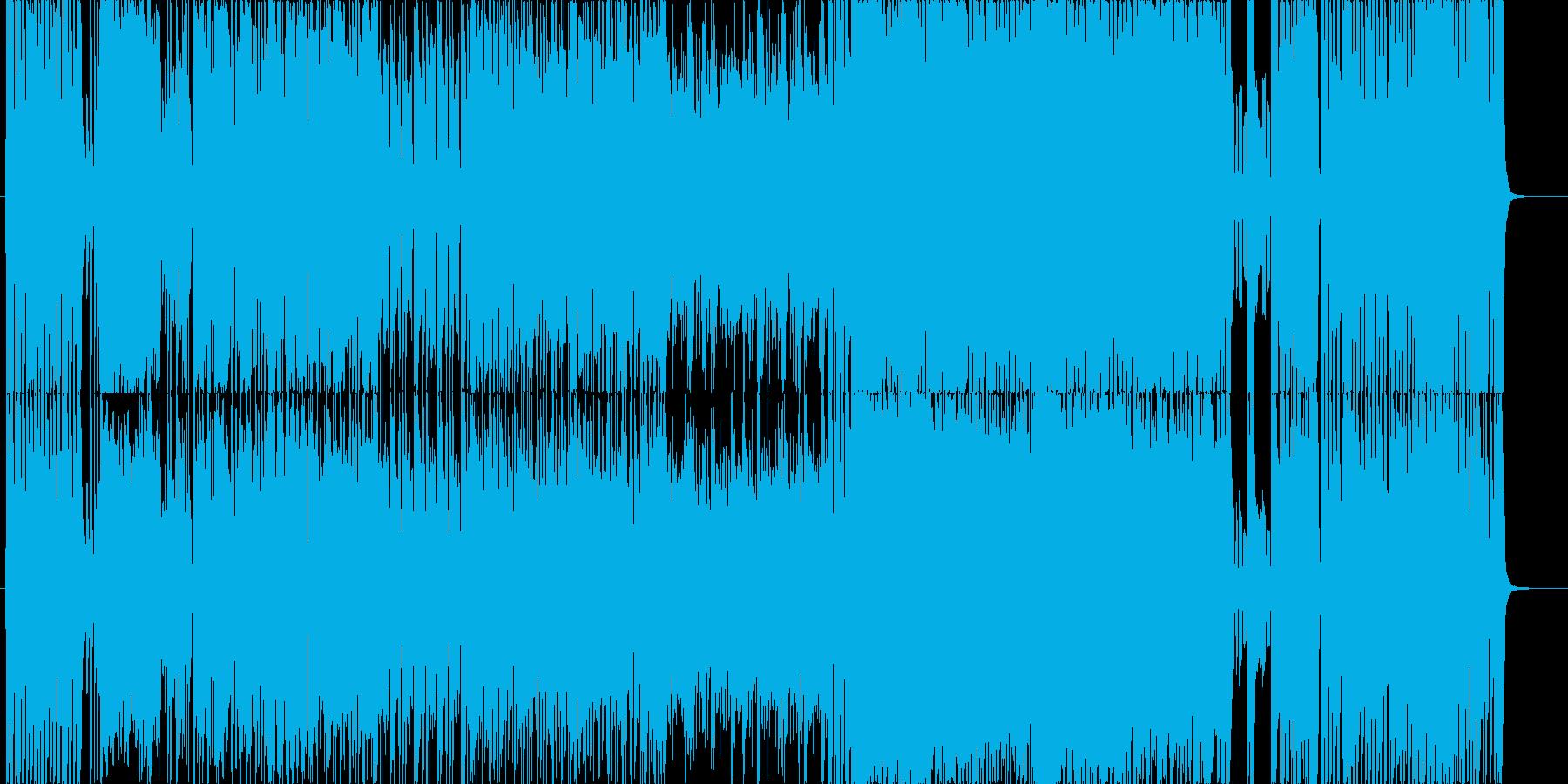 ブラスメインのおしゃれで疾走感のある曲の再生済みの波形