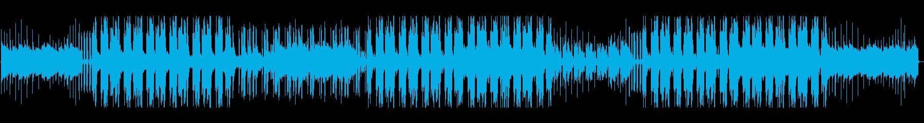 浮遊感のあるヒップホップの再生済みの波形