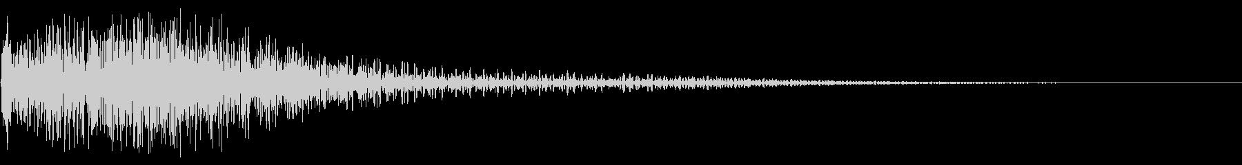 衝撃音(ギャン/ギャッ)の未再生の波形