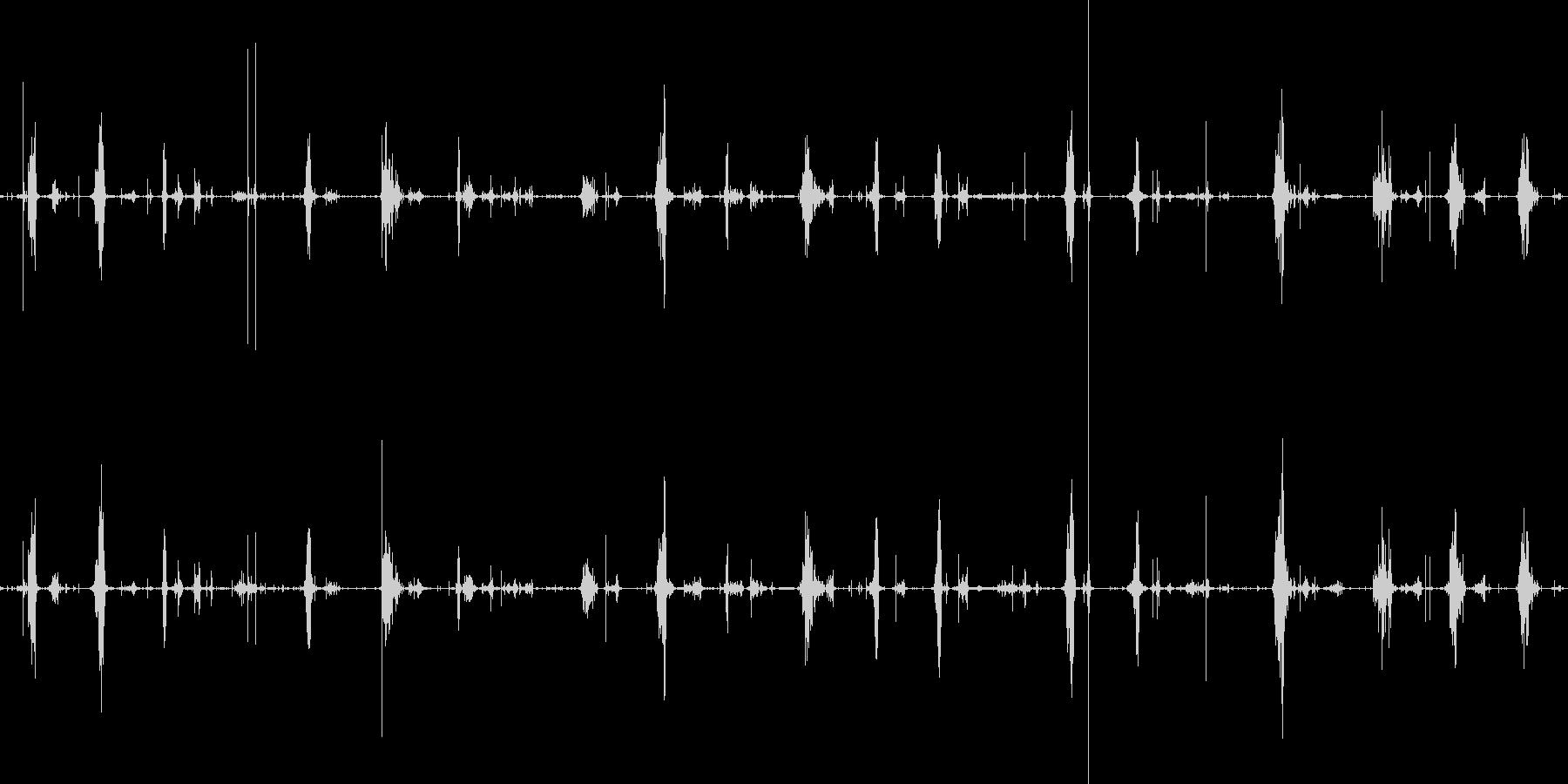 ショキショキスライムを切る音の未再生の波形