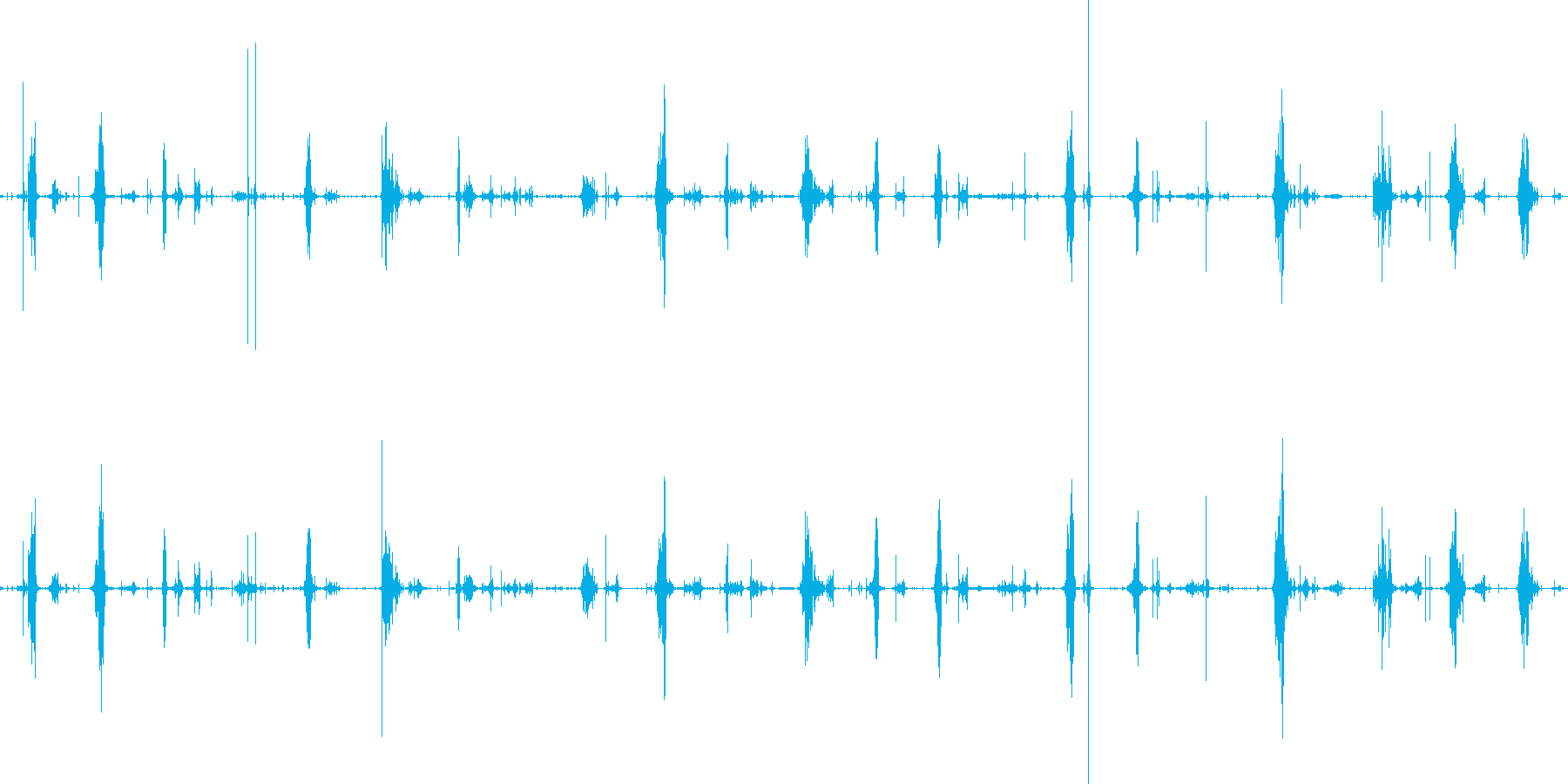 ショキショキスライムを切る音の再生済みの波形