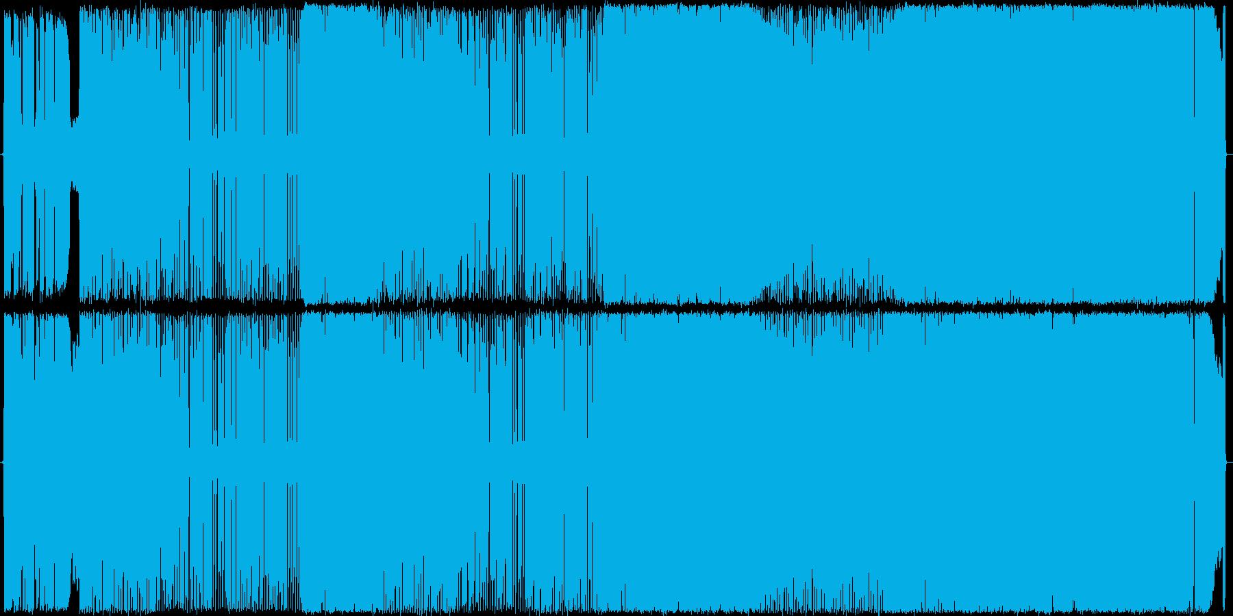ロックサウンドでリラックスした歌モノの再生済みの波形