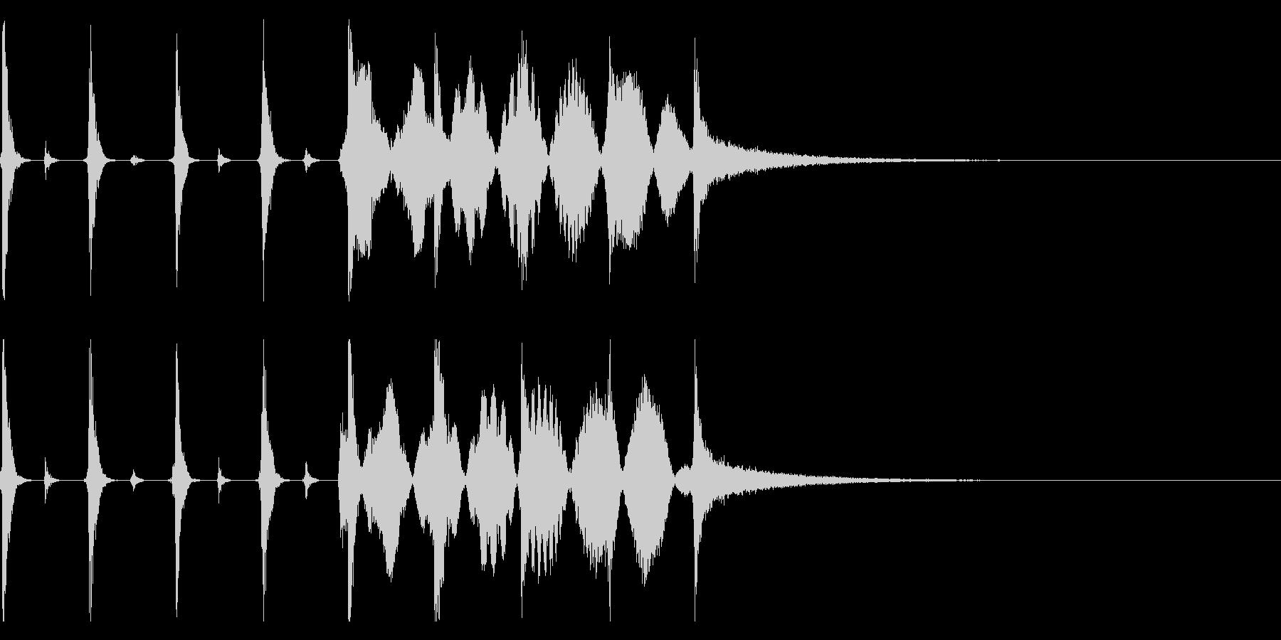 時計の秒針/シンキングタイム効果音!02の未再生の波形
